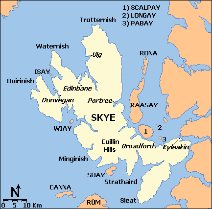 Isle of Skye Scotland Map